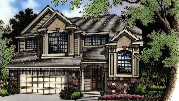 Split Level House Plan with 1719 Square Feet and 3 Bedrooms from Dream Home Source | House Plan Code DHSW27167