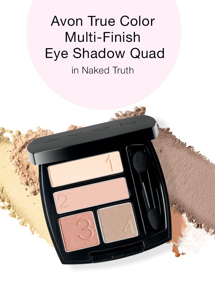 This week's must-have beauty buy is recommended by Avon Representative Andera Batteas: True Color Mulit-Finish Eyeshadow Quad in Naked Truth!