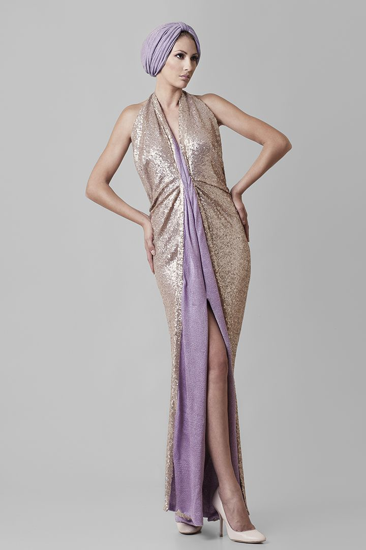 Fragile | @Nassos Ntotsikas Spring/Summer 2015 collection #NassosNtotsikas #SS2015 #GreekDesigner #Maxi #Dress #FashionDesigner #Gold #Lilac #KnitYourDreams