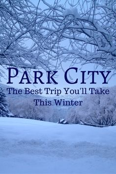 Park City, Utah - The Best Trip You'll Take This Winter! If you're looking for a ski destination in the US that has it all, Park City wins hands down. Park City, Utah has history, culture, fun things to do with kids and AMAZING powder. Park City will be the best trip you take this winter!