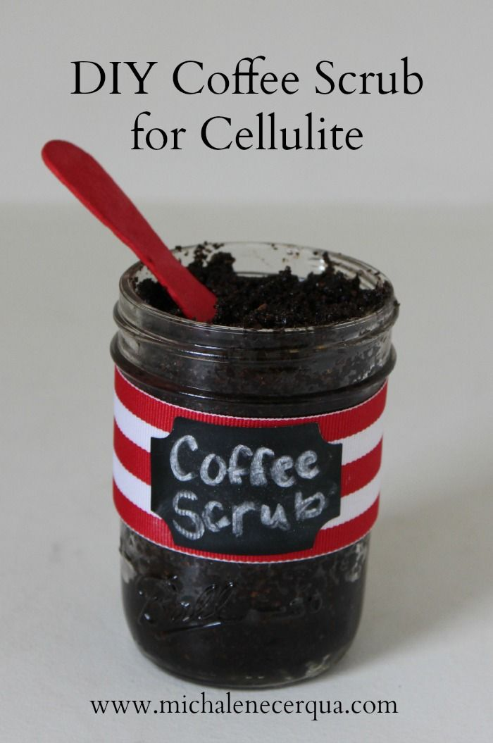 Homemade Coffee Body Scrub Coffee body scrub, if used regularly, can help reduce the appearance of cellulite. Some claims that I have read actually said that this scrub can eliminate cellulite altogether.