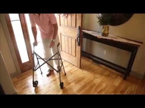 The Space Saver walker is light, folds and fits easily through tight spaces.