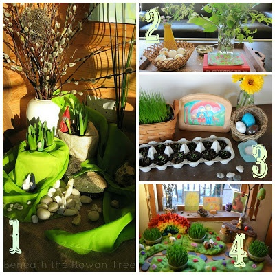 Spring nature table ideas and inspirations! #waldorf #naturetable #spring