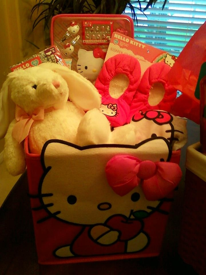 185 best baby easter baskets images on pinterest easter baskets hello kitty easter basket for my baby girl 3 negle Gallery