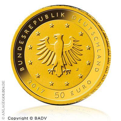 Goldmünze Lutherrose 2017 - neue 50 Euro Münze aus Deutschland
