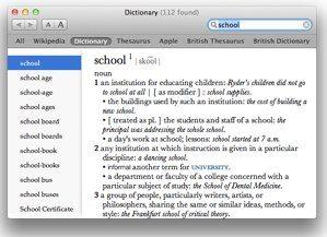 OS X Dictionary - integrácia slovníka s Mac OS X