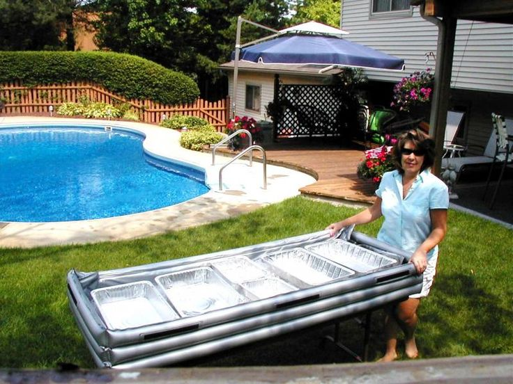 "i can't order this thing fast enough! French's Yardscape LLC - 30"" x 72"" inflatable cooler designed with a unique inflatable base & sides which is used to keep food cold for hours."