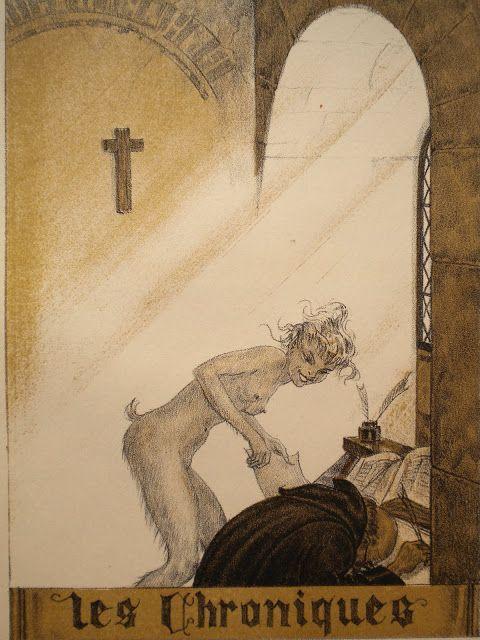 Maurice Lalau (1881-1961) ... lithograph, Illustration for Aloysius Bertrand, Gaspard de la Nuit 1943