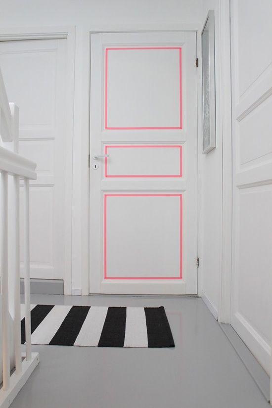 Decorar las paredes con Washi Tape   Estilo Escandinavo