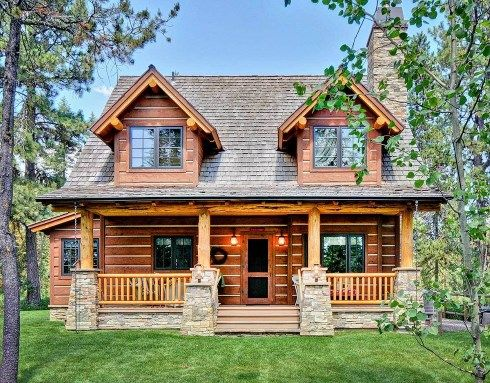 Small Log Home Plans Part 34
