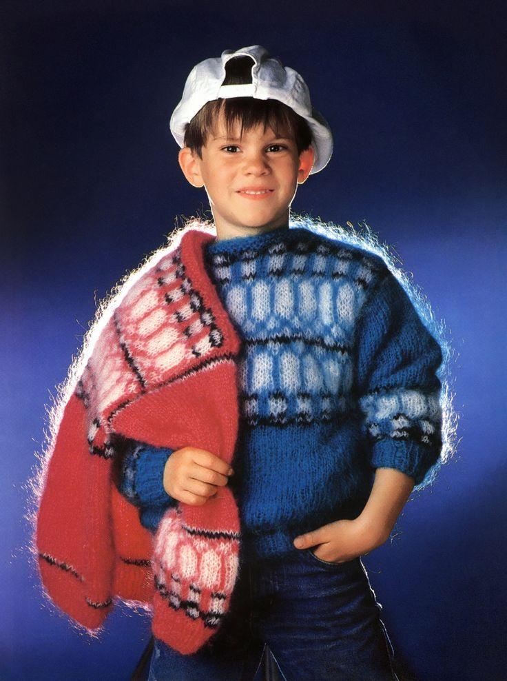 boys kids mohair sweater, photo from firpunkt knitting pattern fuzzy fluffy childrens