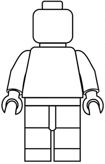 Lego man outline