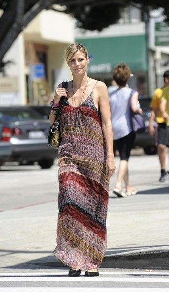 Heidi Klum Maxi Dress - Heidi Klum's height helps her pull off long maxi-dresses like this one.