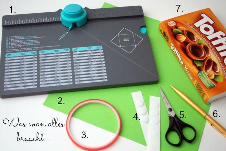 Cathis Scrapblog: Toffifee Verpackung mit dem Punchboard - Anleitung