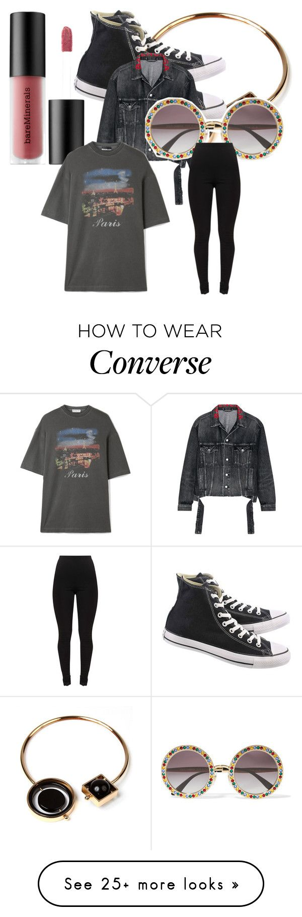 """!"" by lauravf on Polyvore featuring Amrita Singh, Converse, Balenciaga, Dolce&Gabbana and Bare Escentuals"