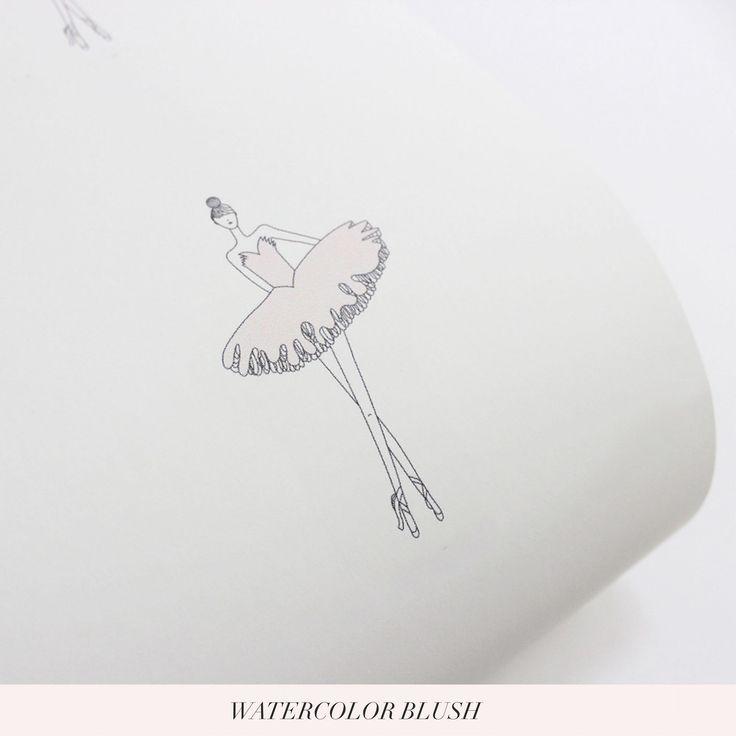 Fashion Illustration Inspired Ballerina Wallpaper