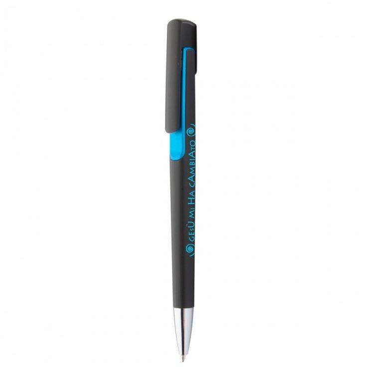 Gesù mi ha cambiato - Penna a sfera con decorazione colorata e clip cromata. Refill blu. www.tashagadget.com