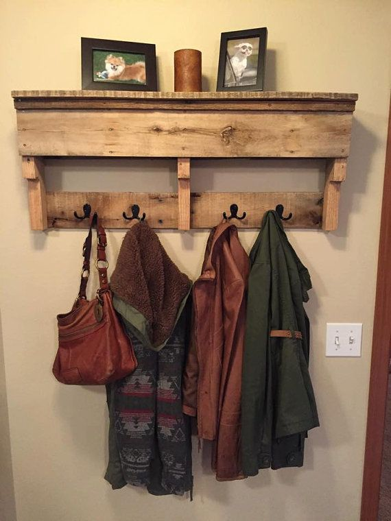 SALE 20% off Coat Rack Rustic Wood Furniture Outdoor Furniture Towel Rack Bathroom Furniture Wall Shelf Entryway Furniture Rustic Home Decor