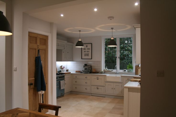 Kitchen designed by Aberford Interiors - painted in Farrow and Ball Cornforth White
