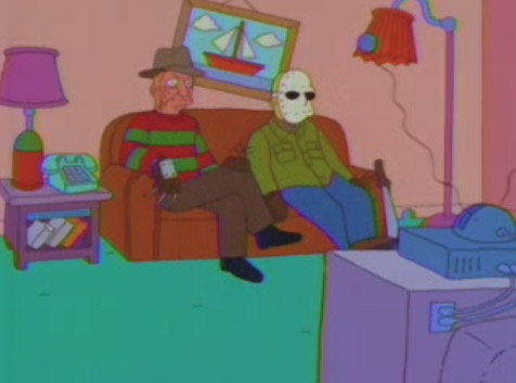 Cartoon and Horror: The Simpsons Couch on Halloween