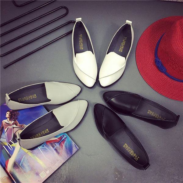 Pointed Toe Casual Slip On Flat Loafers For Women