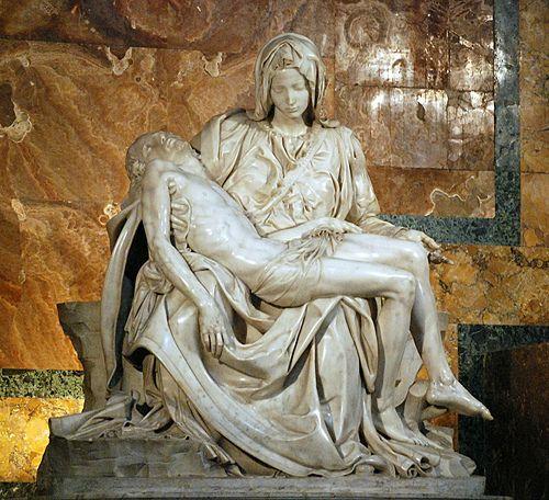 Michelangelo's Pieta, my favorite sculpture.