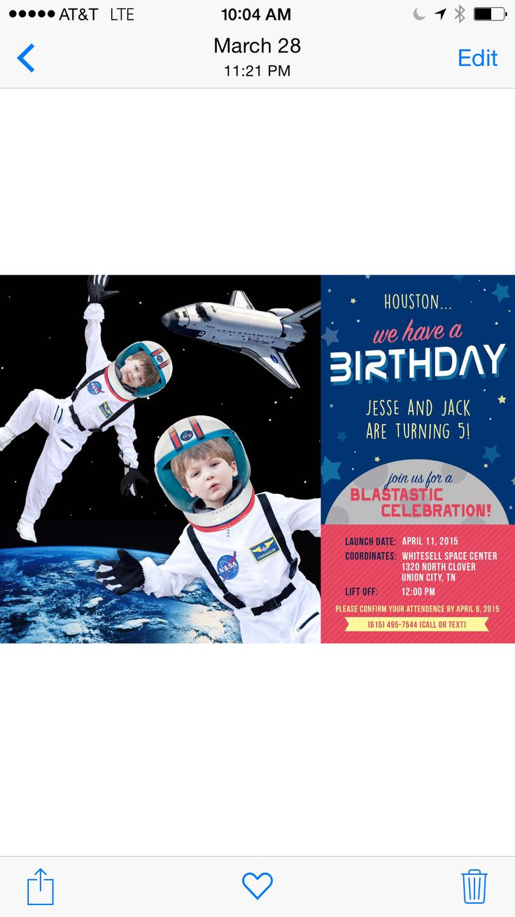 astronaut invitations - photo #34
