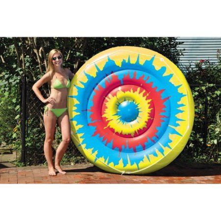 Tie Dye Island Inflatable Pool Toy, Multicolor