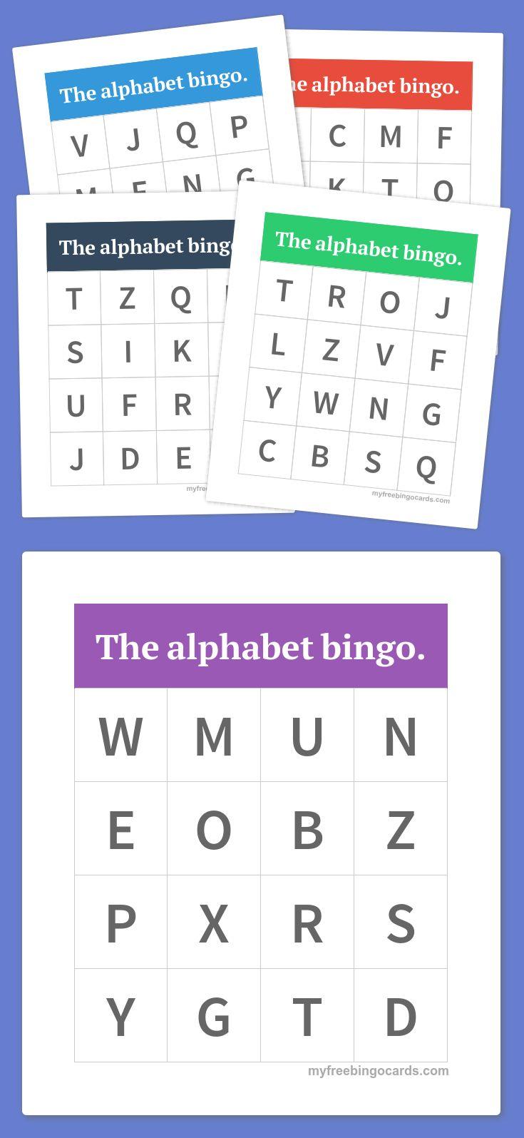 The alphabet bingo.