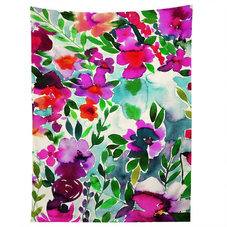 Amy Sia Evie Fl Magenta Tapestry Deny Designs Home Accessories