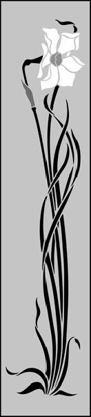 Art Nouveau Motif No 75 stencils, stensils and stencles