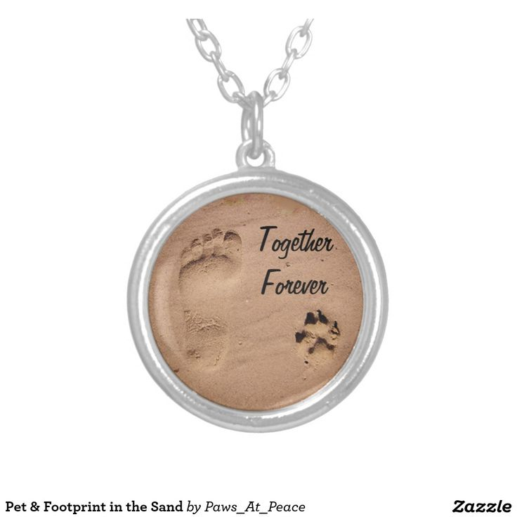 Pet Footprint In The Sand Silver Plated Necklace #pet #footprint #in #the #sand #silver #plated #necklace