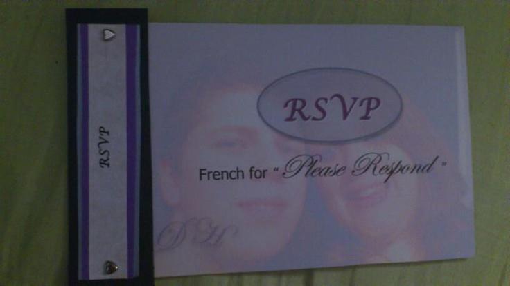 My wedding photos  Postcard RSVP's