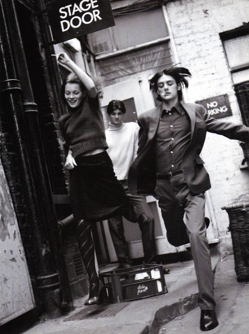 """virare:    """"A Life in The Theatre""""  Kate Moss,Fenn and Piersby Bruce Weber for Vogue Italia October 1996"""