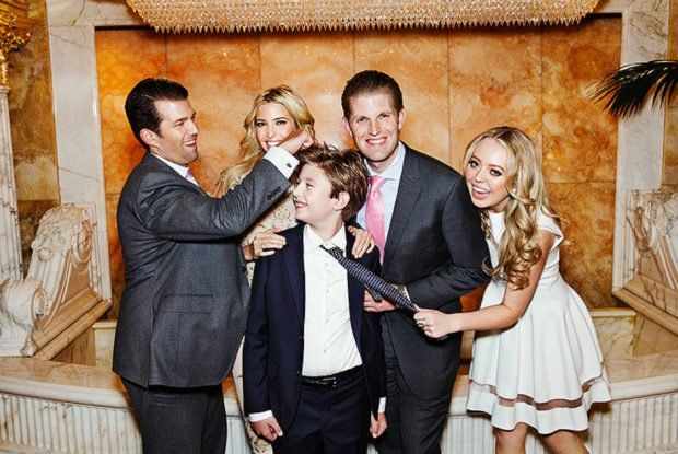 In case you're having a hard time keeping all of Trump's kids straight, here's a quick cheat sheet. Trump was married to Ivana from 1977 to 1991. Donald Trump Jr., Ivanka Trump and Eric Trump are Trump's oldest kids, all born of Ivana. Trump then married Marla Maples in 1993, and the couple had Tiffany before divorcing in 1999. Trump's current wife, Melania, is the mother of Barron. The couple were wed in 2005 and are still together over ten years later.