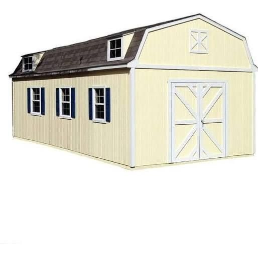 Handy Home Products Storage Building. Sequoia 12 Ft. x 24 Ft. Wood Storage Building Kit