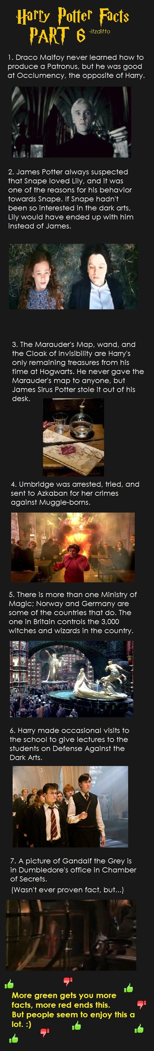 That number 2 fact is breaking my heart (Snape + Lily forever!) Now, if only I could figure out what had to happen for Harry/Hermione to occur...