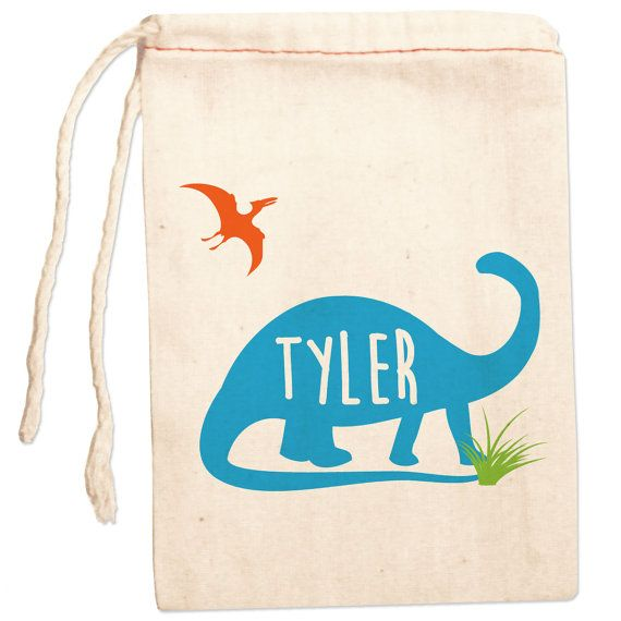 Dinosaur Birthday Party Favor Bags Personalized by ShopPsychobaby