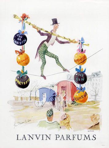 Parfums Lanvin -  1960 Illustration de Guillaume Gillet