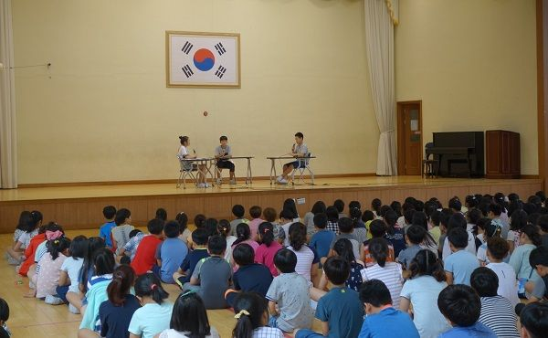 광양마동초등학교, 토론을 통한 민주주적 학생회 임원 선거