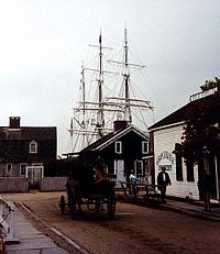 Ships masts rising above the roofs...a typical veiw in any seaport town of yesteryear.