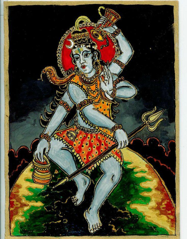 Siva sitting on the Globe