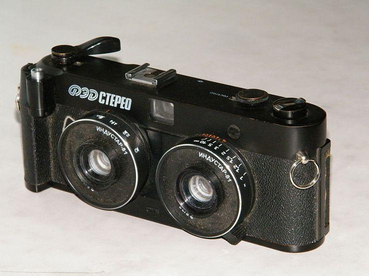 Стереоскопический фотоаппарат «ФЭД-Стерео», СССР, 1988
