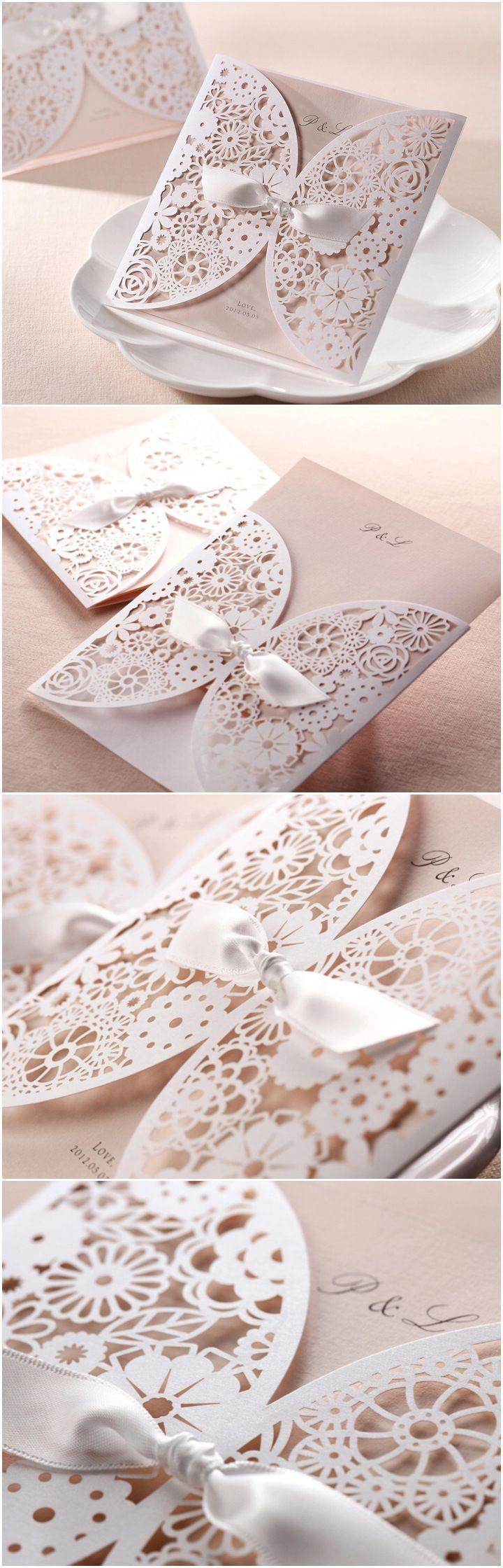 2015 Trending Elegant Laser Cut Wedding Invitations