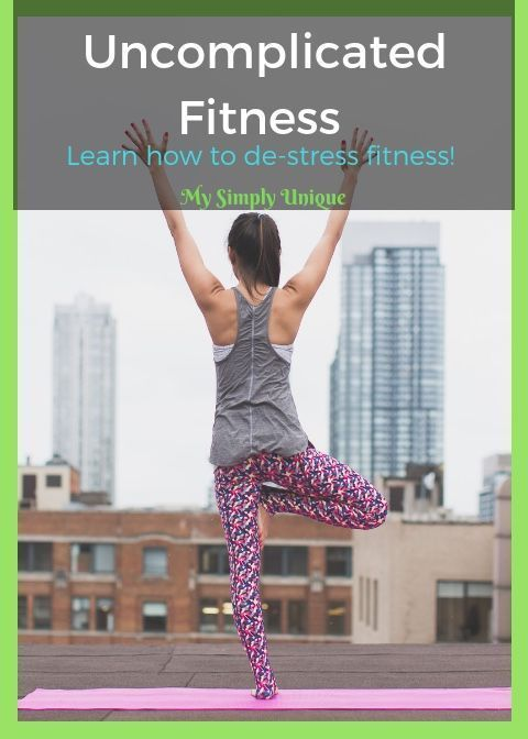Society has worked up exercise and fitness way more than it needs to be. You can make fitness easy. It does not have to be complicated. De-stress Fitness! #healthandfitness #fitness #healthy #health #healthandwellness #healthybody #healthtips