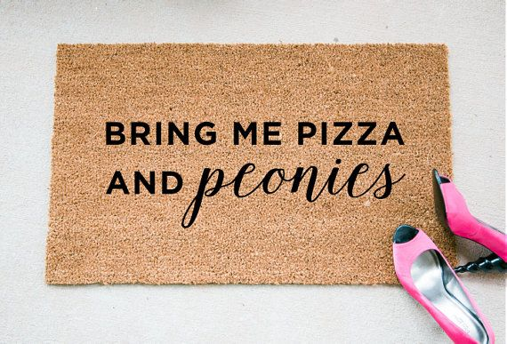 Bring Me Pizza & peonies by foxandcloverboutique