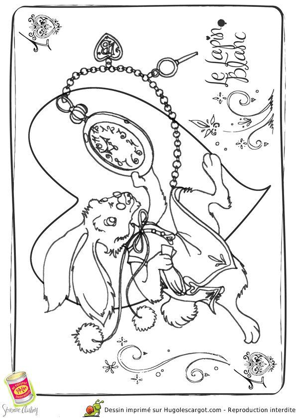 Coloriage lapin blanc - Hugolescargot.com