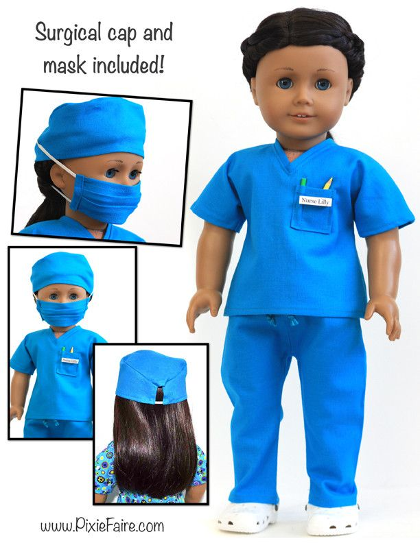 "Scrubs Outfit 18"" Doll Clothes"