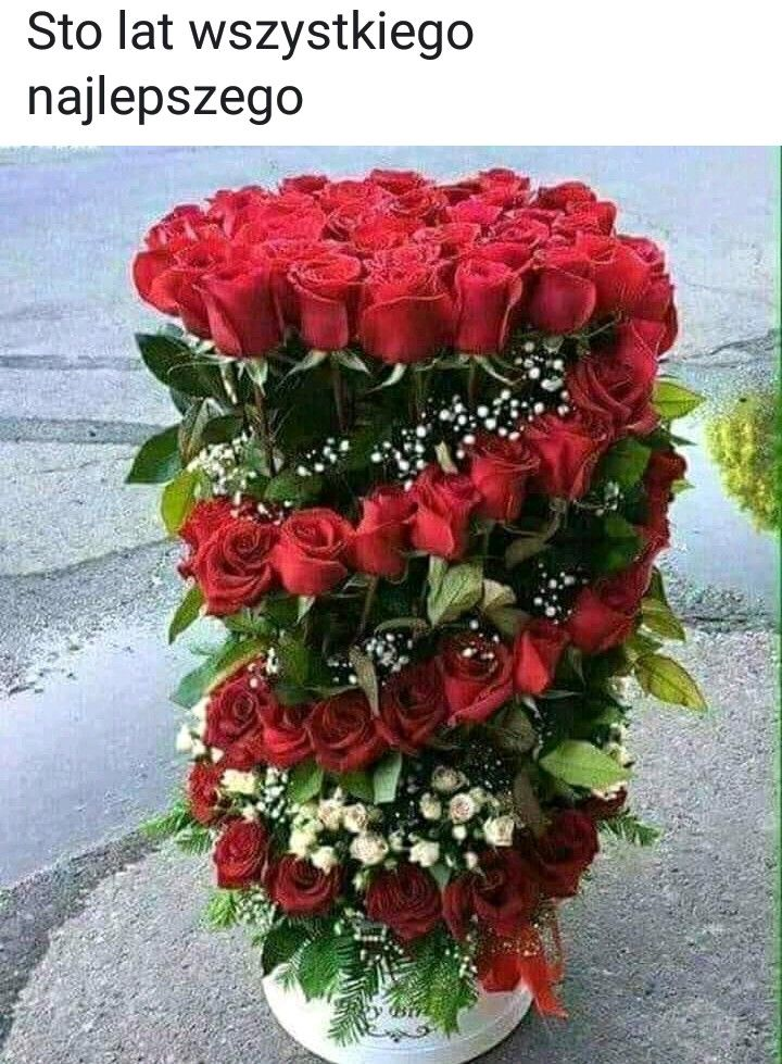 Pin By Kamila Plenzler On Zyczenia Urodzinowe Funeral Flower Arrangements Flower Arrangements Beautiful Rose Flowers