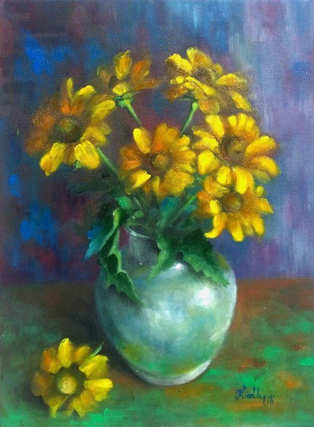 Kertünk virága - 40 x 30 (olaj/vászon)